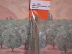 #150-1302 Span Poles, Brass, Threaded, Nuts, Drilled (6)
